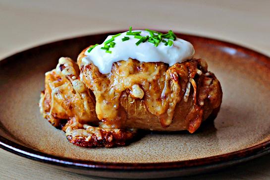 Idealiai įdaryta bulvė