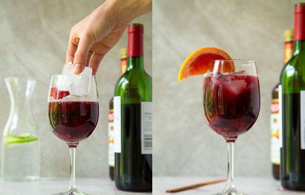 Greitai paruošiama sangrija stiklinėje