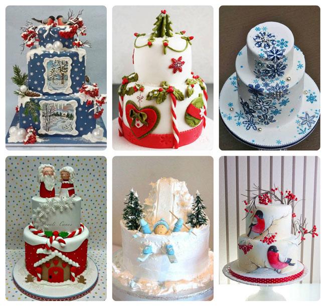 Įspūdingas kalėdinių tortų dekoras. Net 30 idėjų.