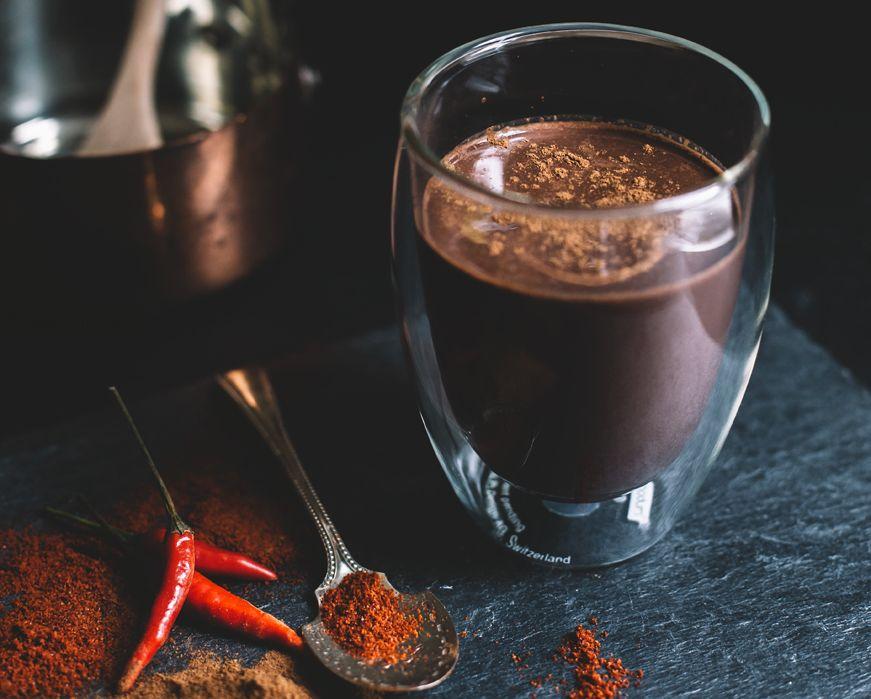 Meksikietiškas, aštrus karštas šokoladas