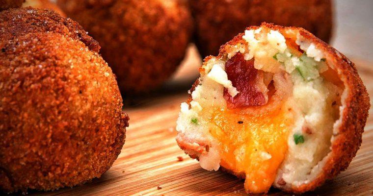 Bulvių košės kukuliai su sūriu (video)