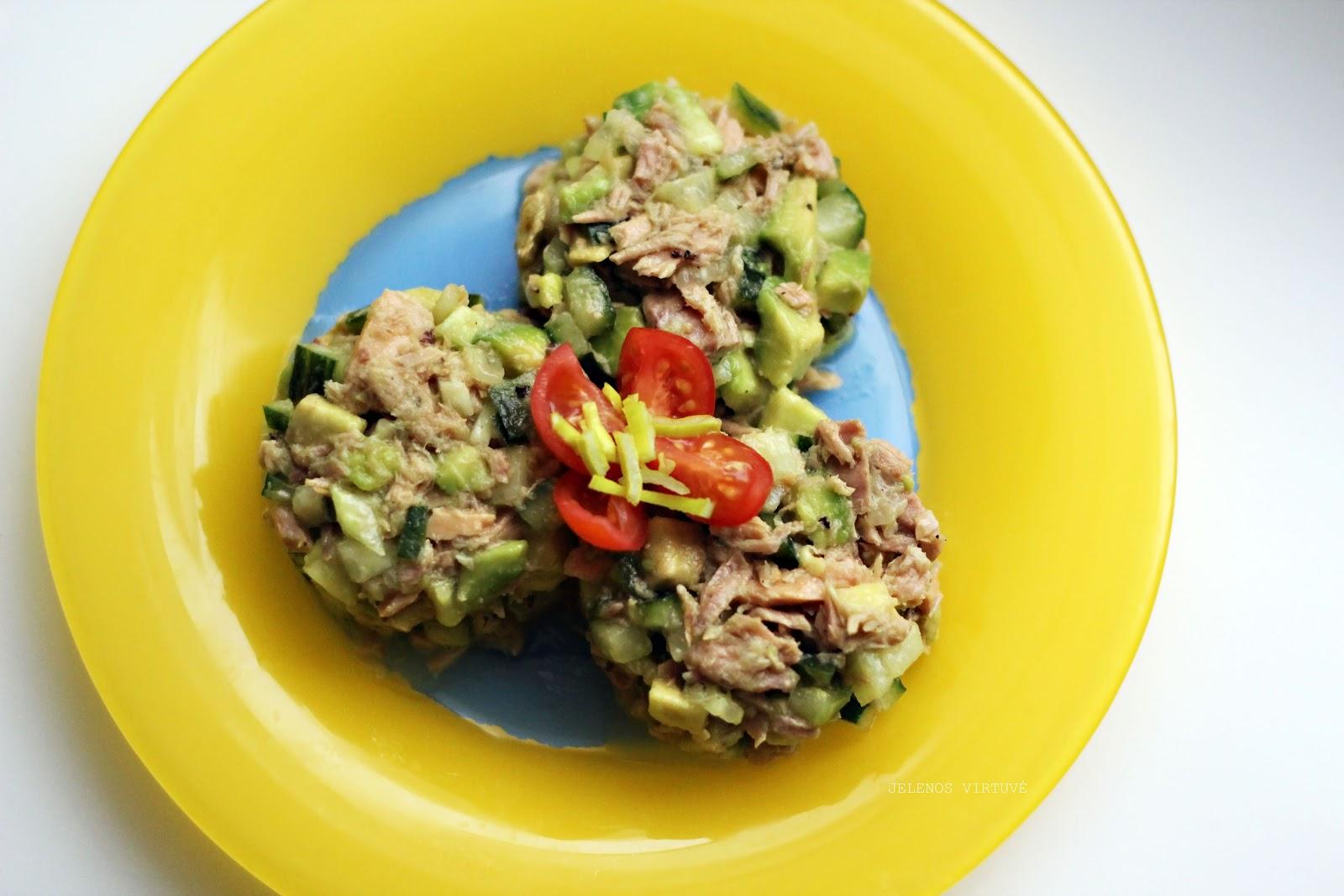Švelnios tuno salotos su avokadu