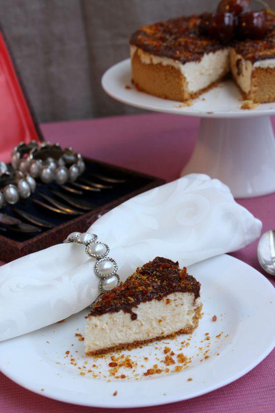 Švelnusis cheesecake'as su karameliniu paviršėliu
