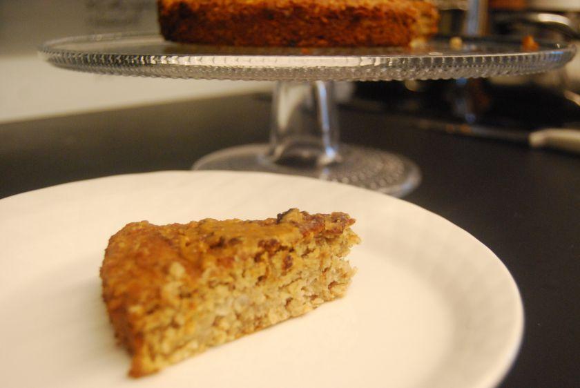 Avižinis pyragas su riešutųsviestu