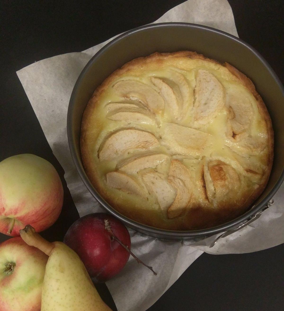 Elzasietiškas obuolių pyragas