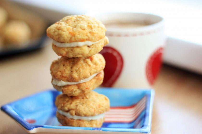 Morkų sausainiai su pertepimu