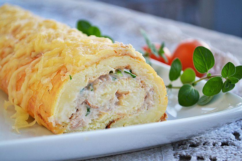 Omleto vyniotinis su tunu