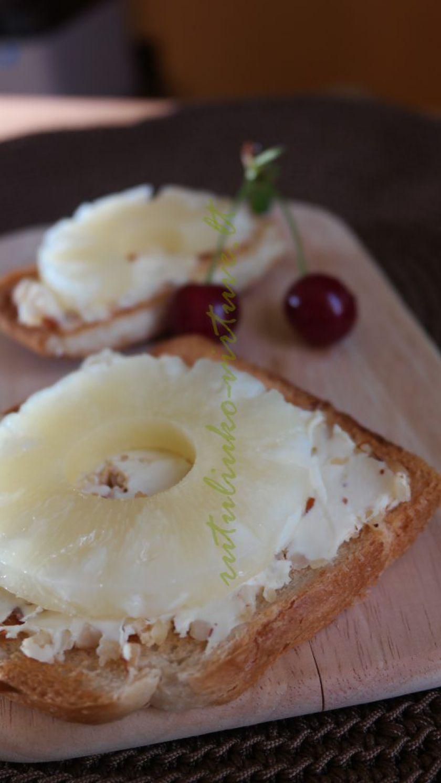Idėja pusryčiams desertinis sumuštinis