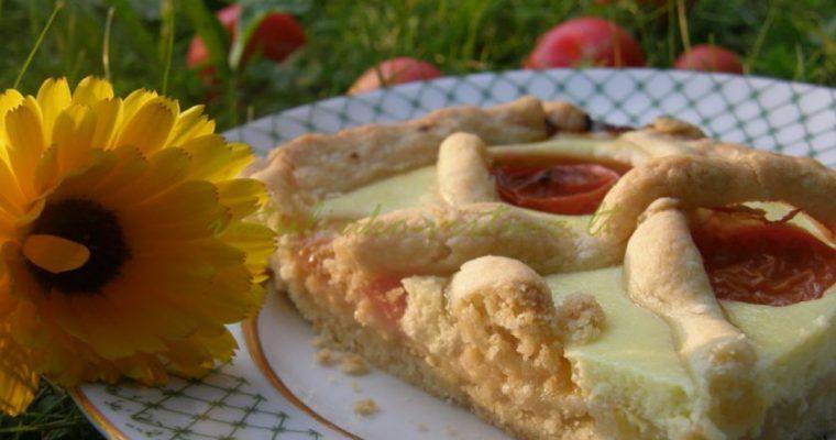 Paprastas ir gaivus pyragas su varške ir slyvomis