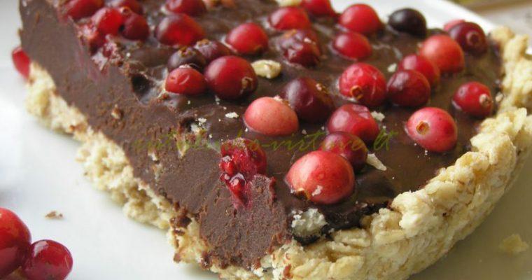 Labai šokoladinis pyragas su spanguolių rūgštele