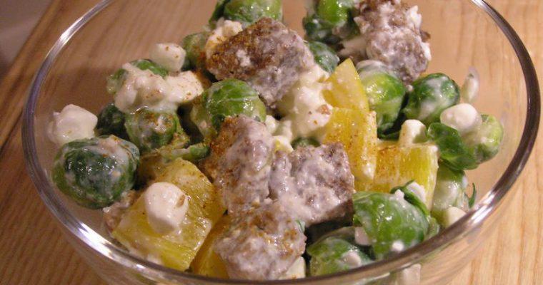 Šiltos antigripinės salotos