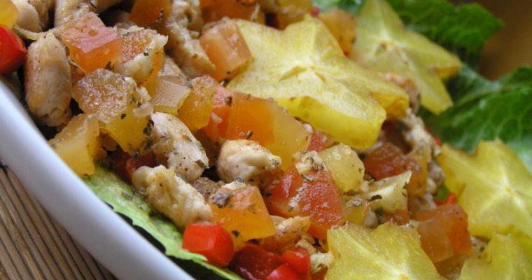 Vištienos ir karambolų salotos