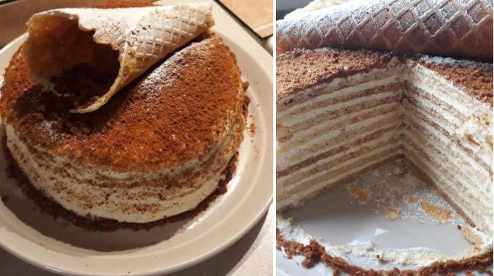 Birutės naminių vaflių tortas
