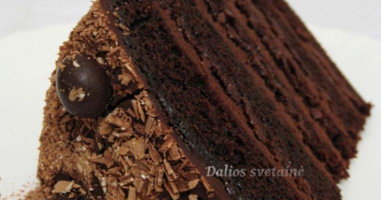 """Šokoladinis tortas """"Velnio maistas"""""""