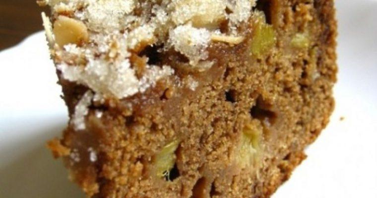 Grietininis rabarbarų pyragas su traškia migdolineplutele