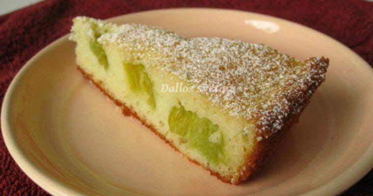 Norvegiškas rabarbarų pyragas