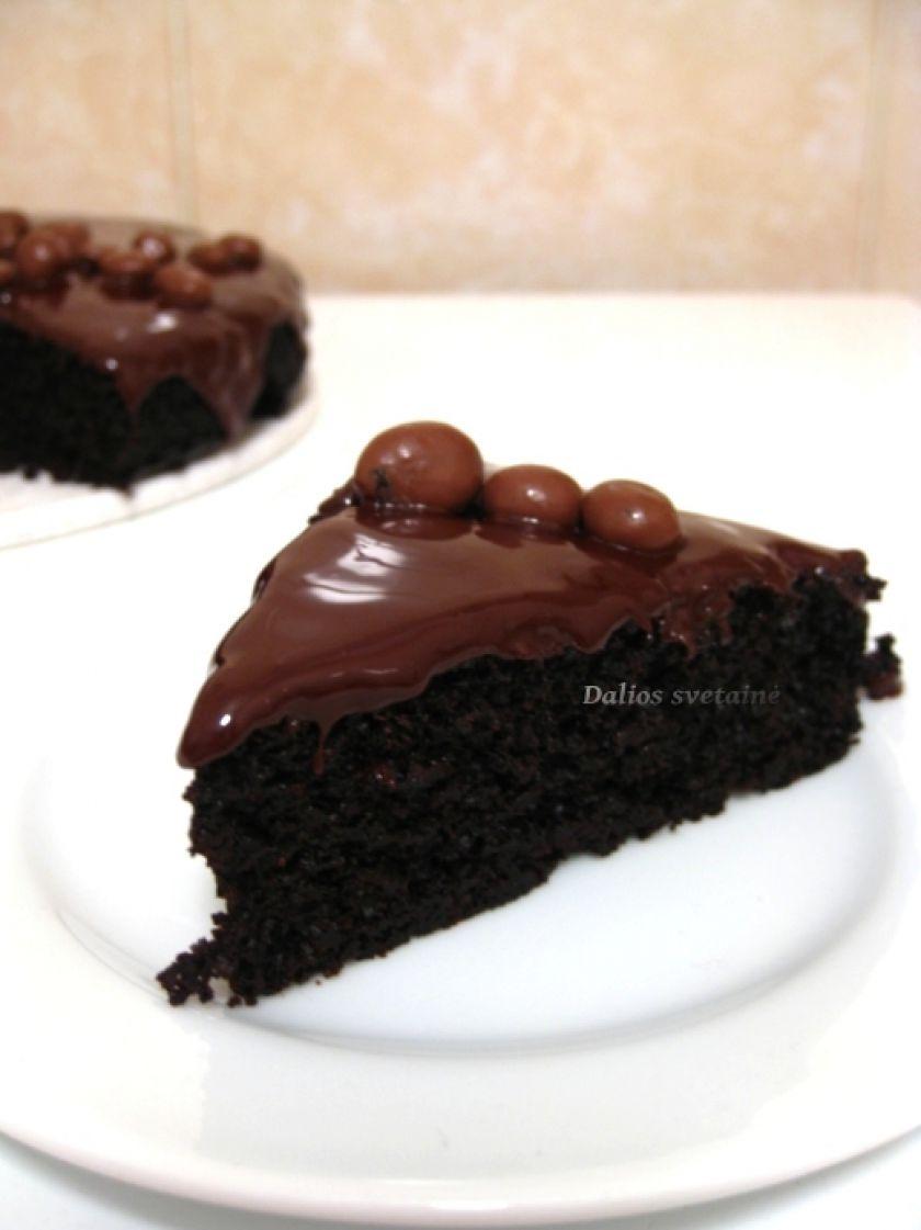 Šokoladinis pyragas su alyvuogių aliejumi